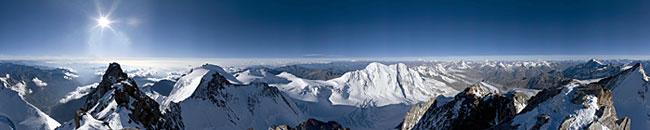 杜福峰(dufourspitze)360°全景,瓦莱州(wallis,4634米)