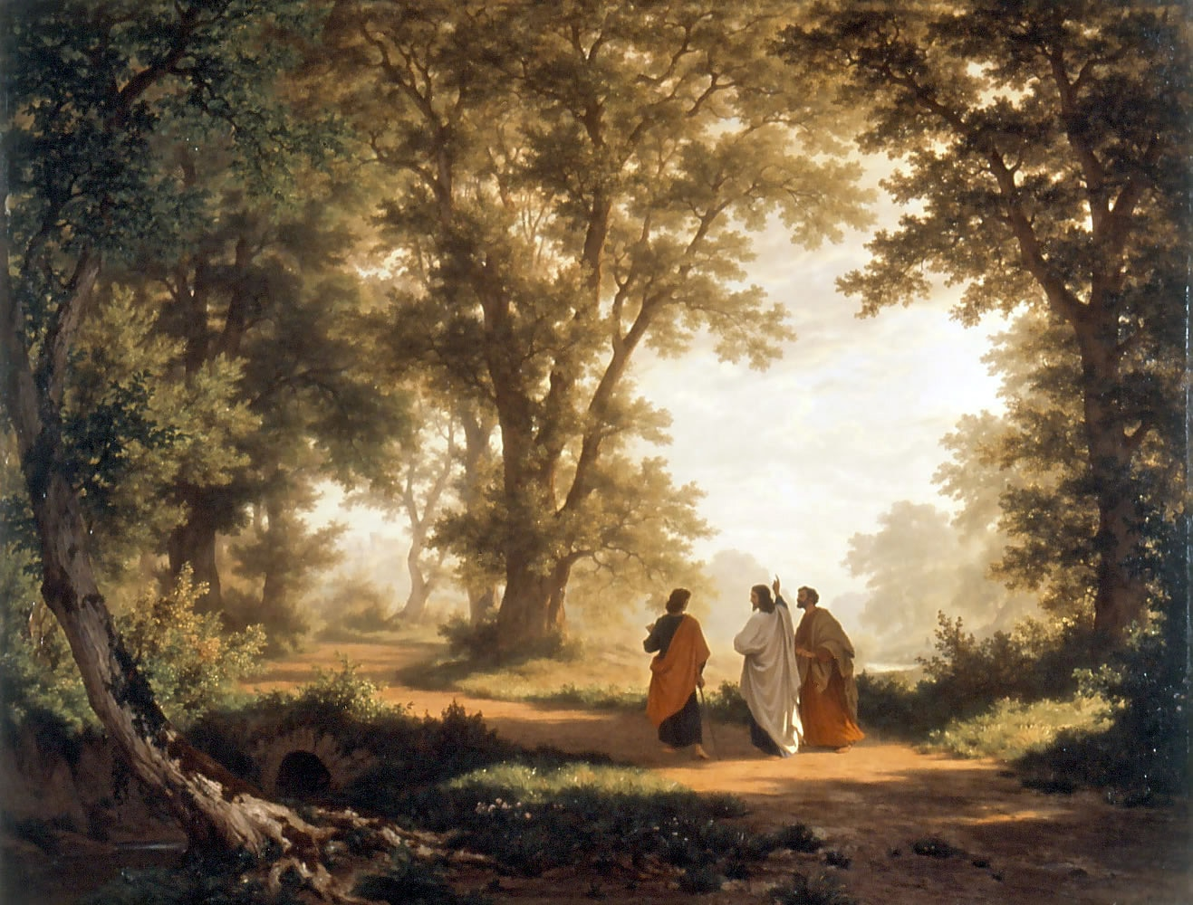 Robert Zünd (1827-1909): The Road to Emmaus