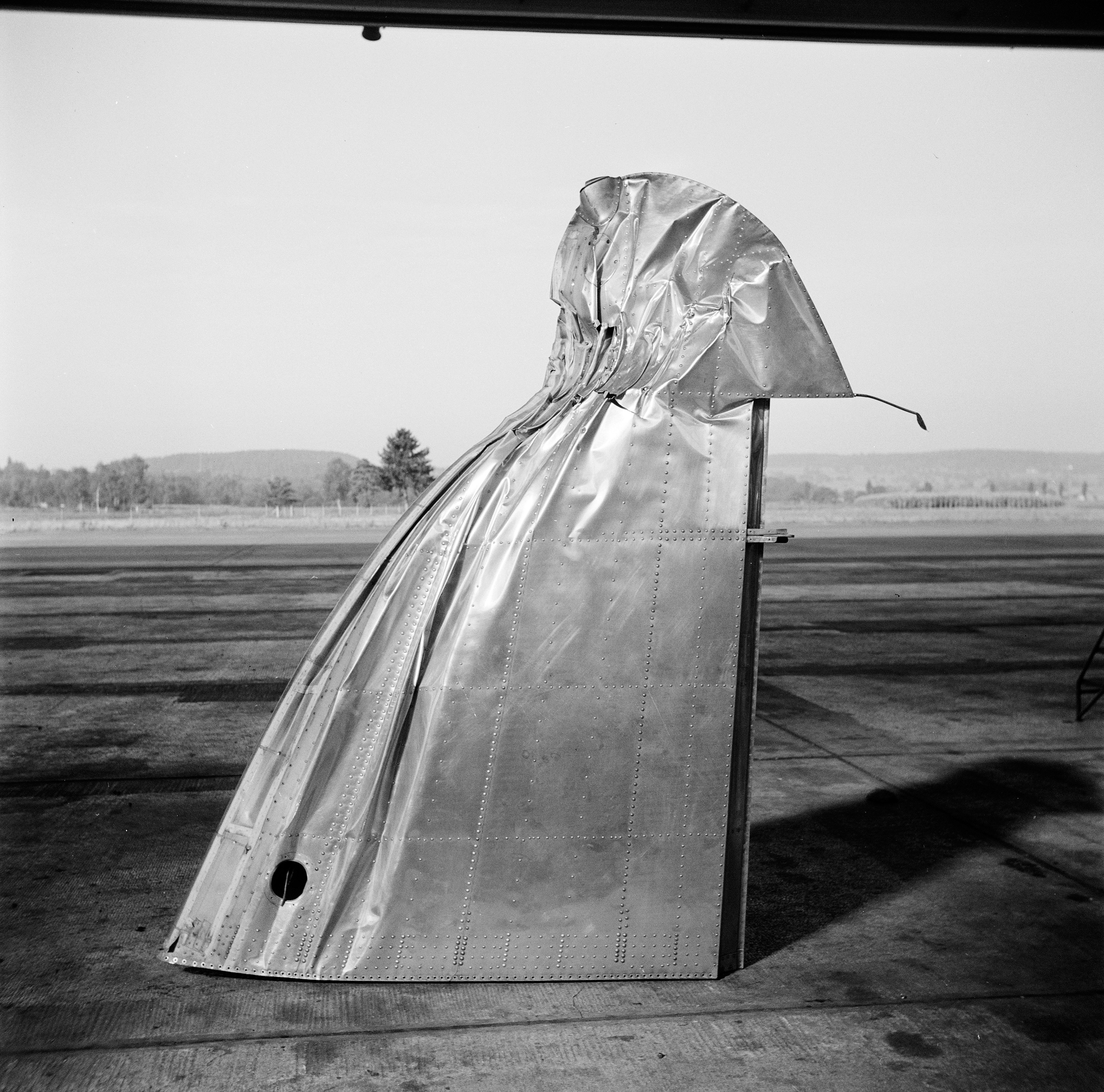 A damaged wing tip in the 1940s