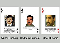The assets of Saddam and his sons will be blocked if found