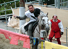 Jousting knights will be leading the charge
