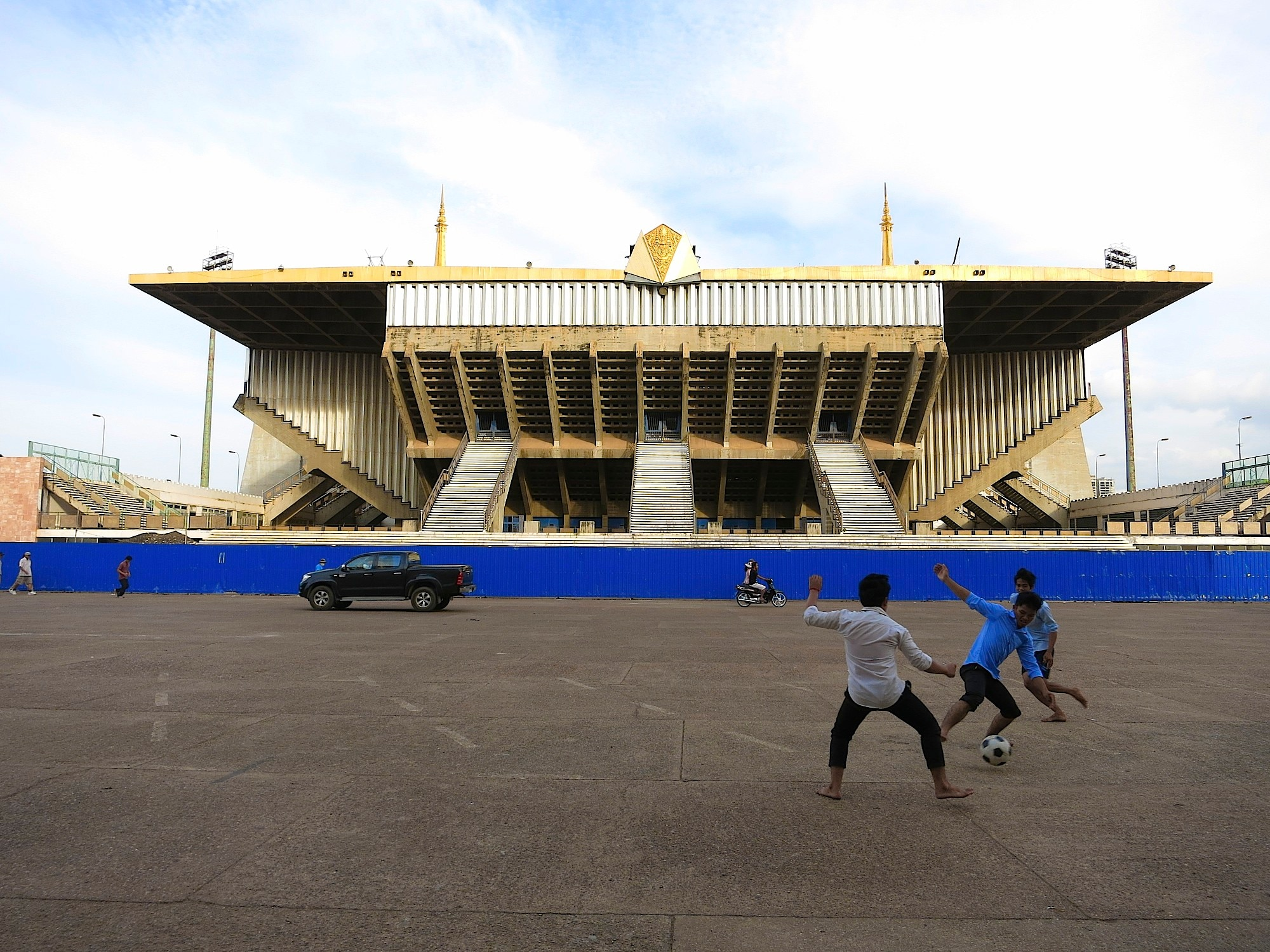 Over the past several years, citizens of Phnom Penh have begun using the Olympic stadium for their own sports and recreational activities. Although many fear it will be destroyed, a government spokesperson insists that's not the case.