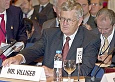 The Swiss finance minister, Villiger, is chairing the meeting