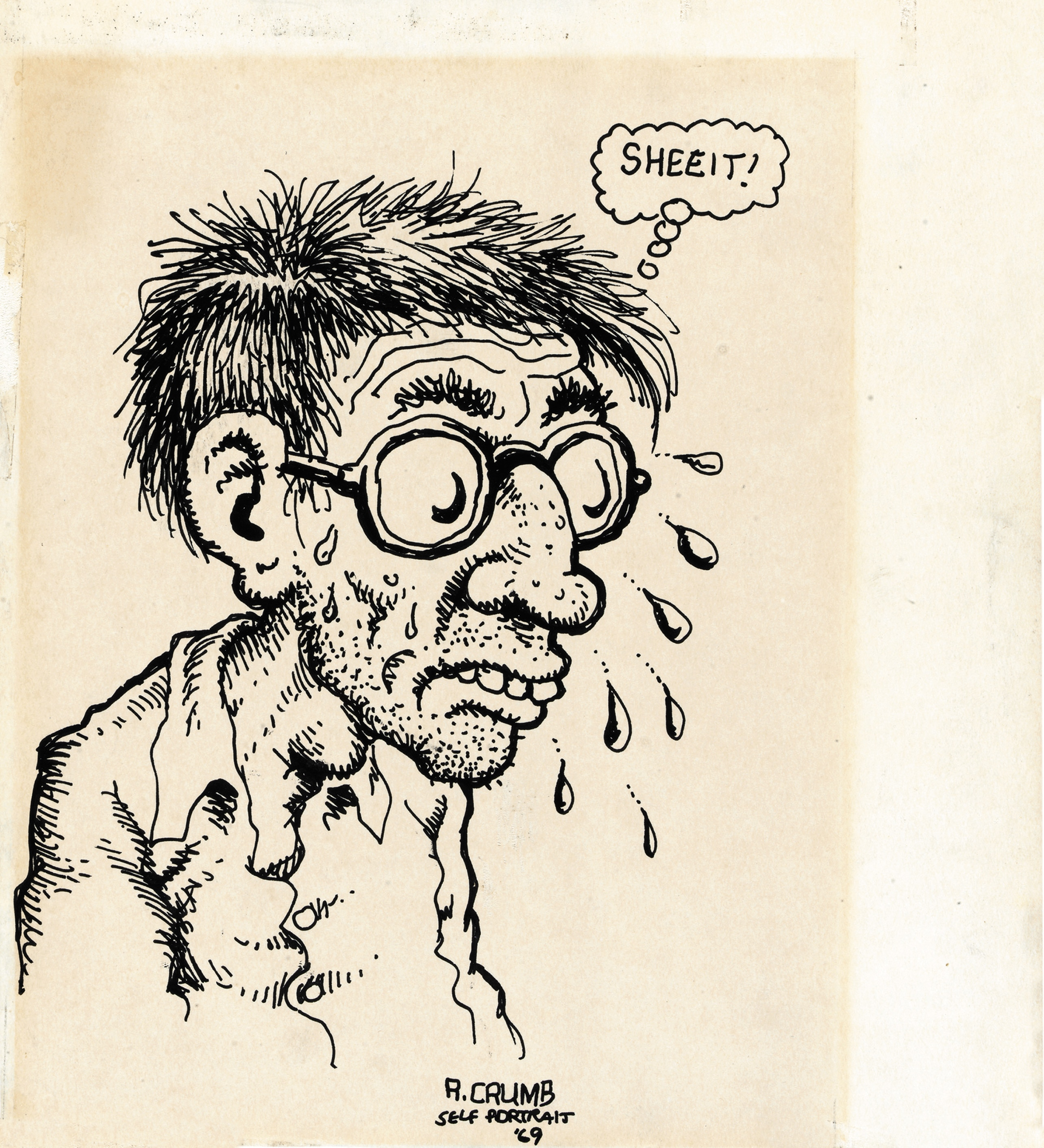 Robert Crumb, Self-Portrait 1969
