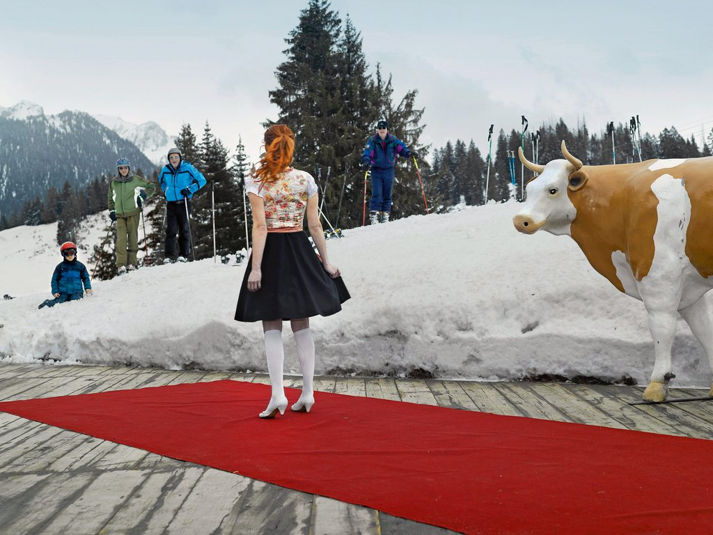 Martin Guggisberg: Miss. Second prize in the category culture  The Miss Tourism Switzerland competition at Zweisimmen   (Swiss Press Photo/ Martin Guggisberg)
