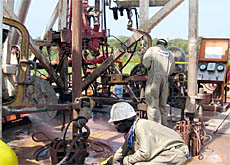 Workers in the Doba oil fields in southern Chad