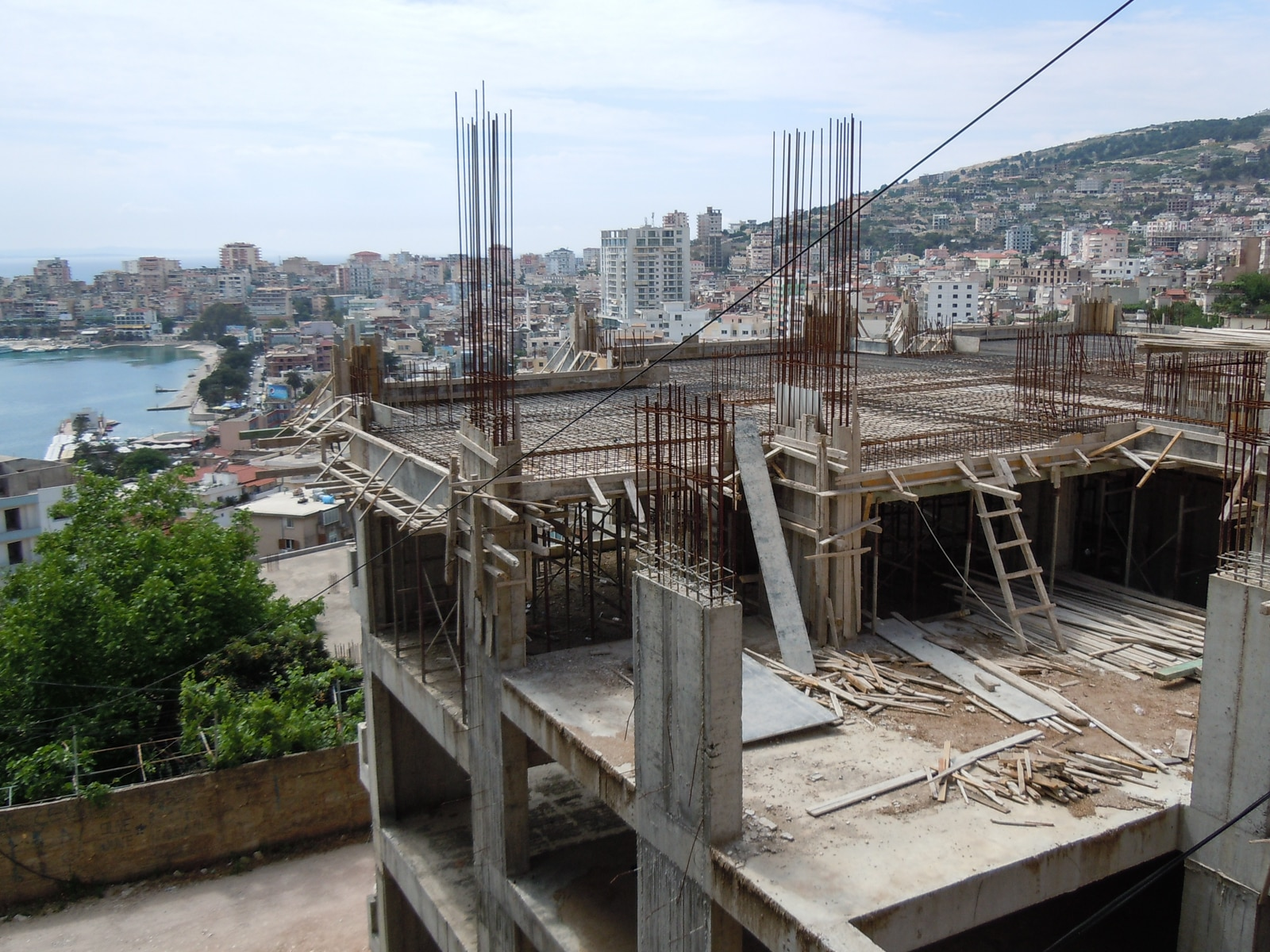 The building boom in Saranda, the country's tourist centre
