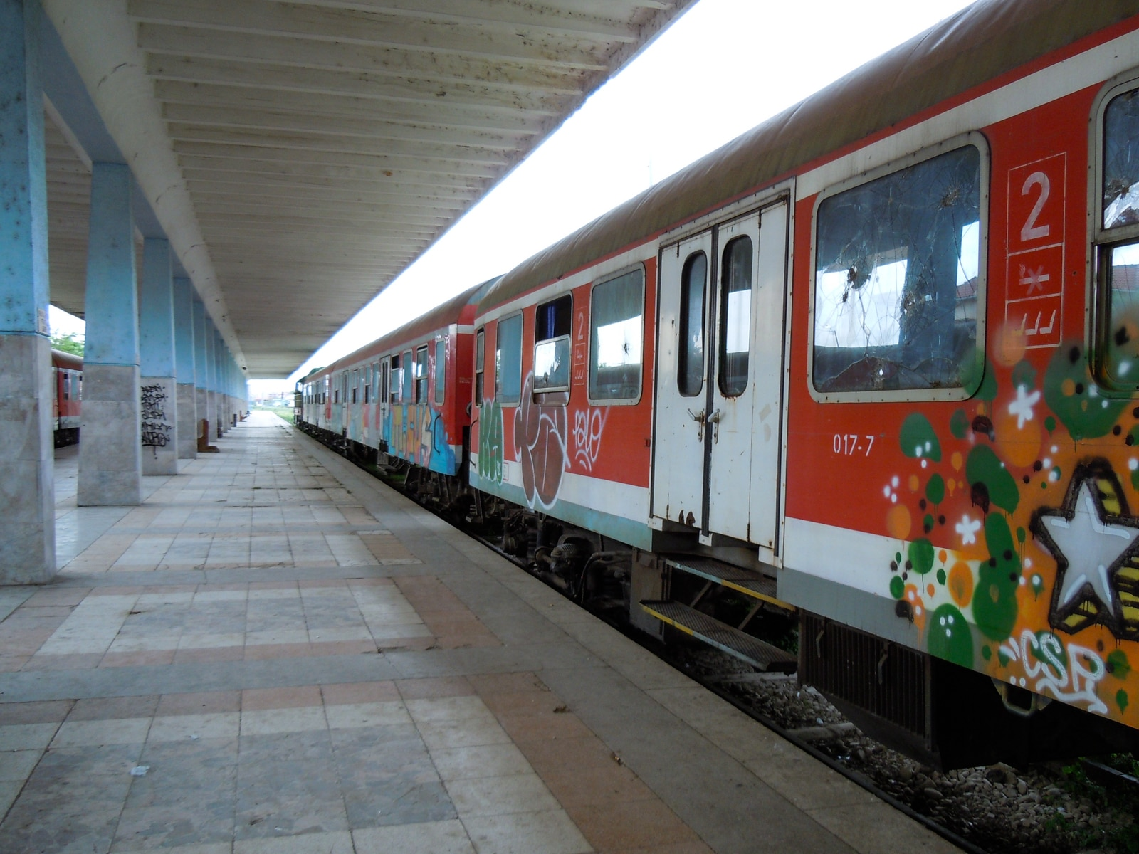 The station in Tirana has only two platforms - enough for Albania's hardly overloaded rail network