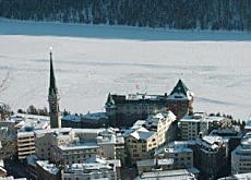 St Moritz uses the frozen lake on its doorstep as a heat source