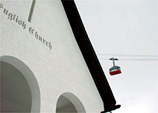 Say your prayers at the English church for safe passage on Wengen's ski slopes