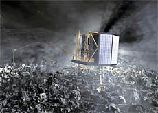 Rosetta will drop a lander onto a comet for the first time (Esa/AOES Medialab)