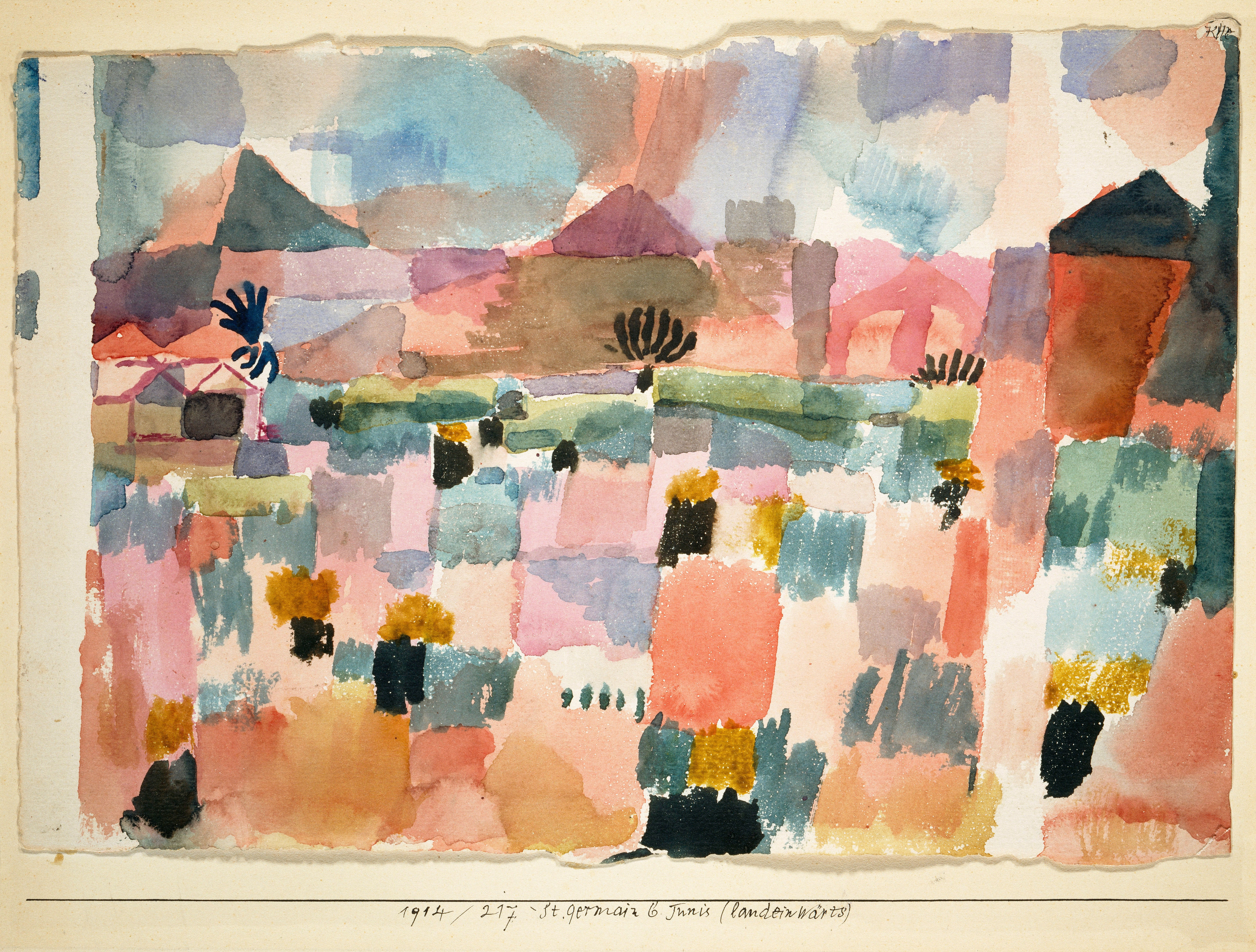 Paul Klee: Saint- Germain perto de Túnis, 1914