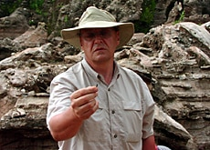 Dr Peter Schmid manages the project in the caves of Gladysvale in South Africa