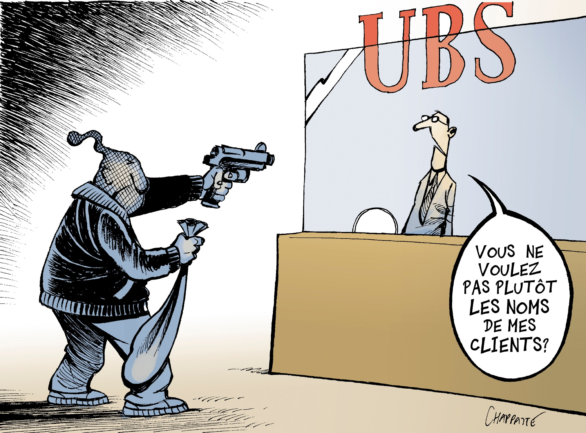 "August 16, 2009. Swiss bank UBS agreed to hand over to the American authorities lists of clients suspected of having evaded US taxes. ""Wouldn't you rather have the names of my clients?"""
