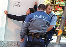 Amnesty International criticised Swiss police for excessive force