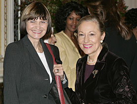 Calmy-Rey held a meeting with other women leaders in New York before travelling to Boston