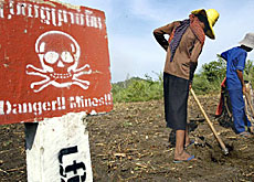 More than 20,000 people are killed or wounded by landmines each year