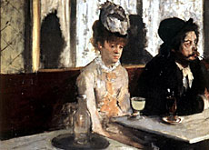 A glass of absinthe as painted by Degas (Atlanta Museum of Art)