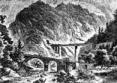 The arrival of trains in Switzerland lead to the construction of new alpine crossings, such as the Gotthard rail link