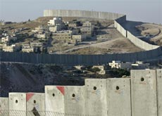 Israel's security wall is eight metres high at some points