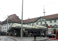 Fribourg station stands at the heart of the city