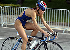 Brigitte McMahon during the 2003 Triathlon World Cup