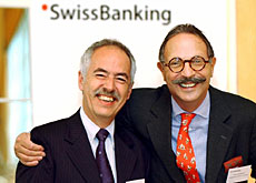 Urs Roth (left) and SBA chairman Pierre Mirabaud are banking on a brighter future