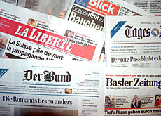 The papers reflected on the divide between French- and German-speaking Swiss