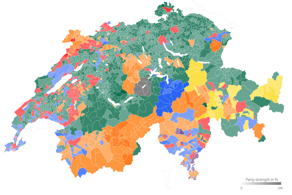 Party strongholds and political battlefields 19712011 SWI