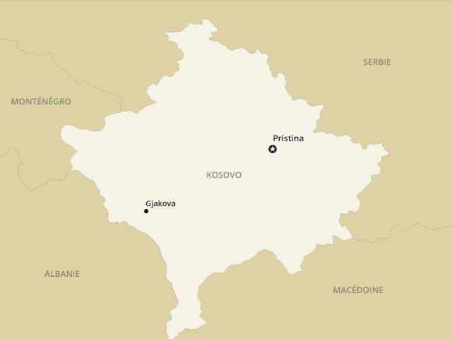 Gjakova est la commune du Kosovo qui a la plus longue frontière commune avec l'Albanie voisine.