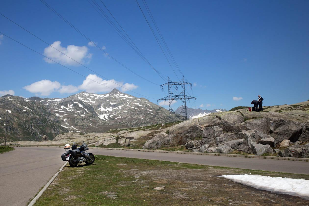 The Gotthard Pass summit.
