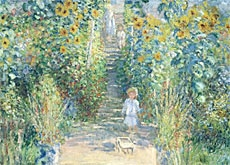 Monetu0027s Painting Of His Garden In Vétheuil Is An Example Of His Early  Impressionist Work