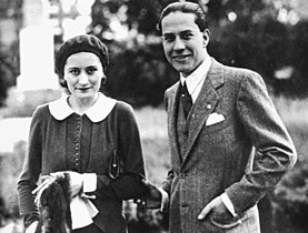 Benito Mussolini's daughter, Edda Ciano, here with her husband, Italian Foreign Minister Galeazzo Ciano, was one of the more visible political refugees