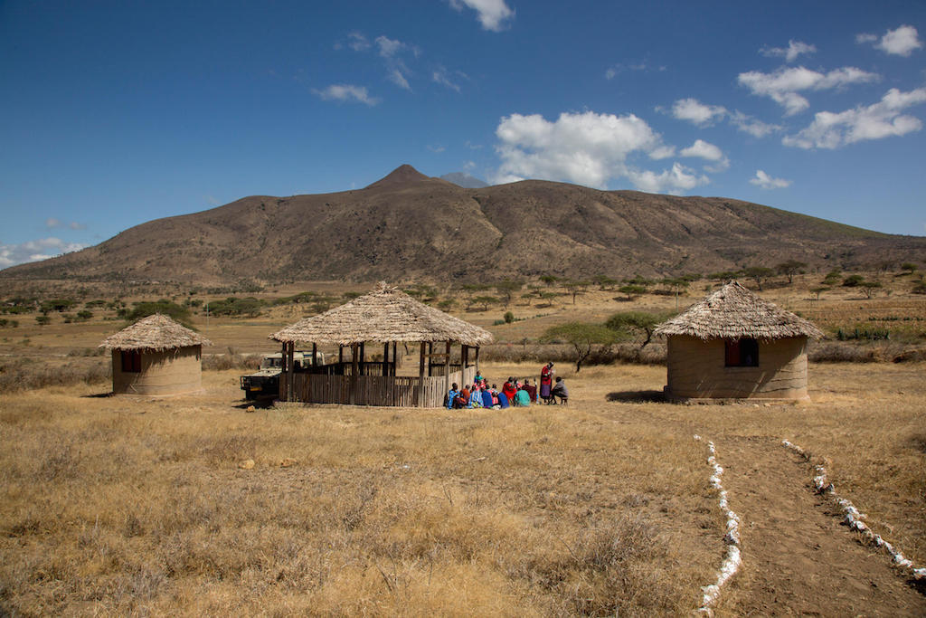 The Masai community's cultural boma or hut is where Marina meets up with her tribal team.