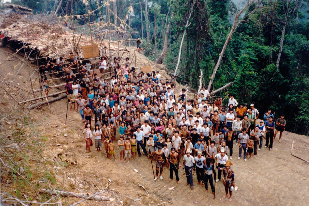 The Penan blocking loggers in Sarawak, Malaysia, near the community of Long Ajeng