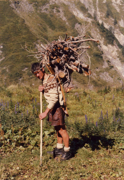 Bruno Manser in the Swiss Alps in 1982