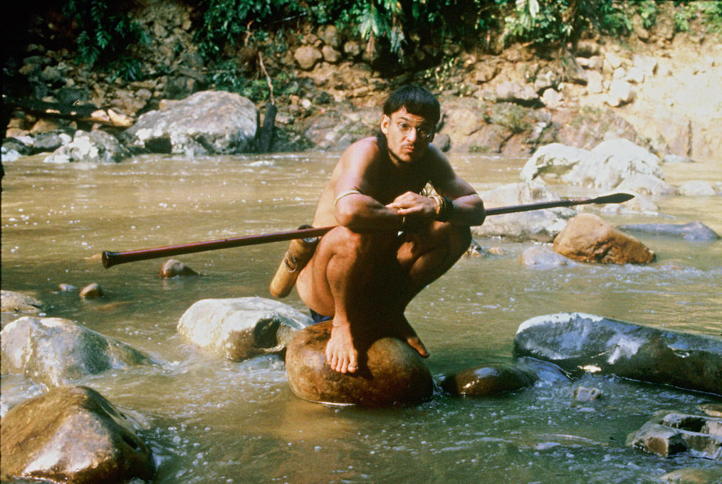 Bruno Manser as a Penan-like fisher and hunter