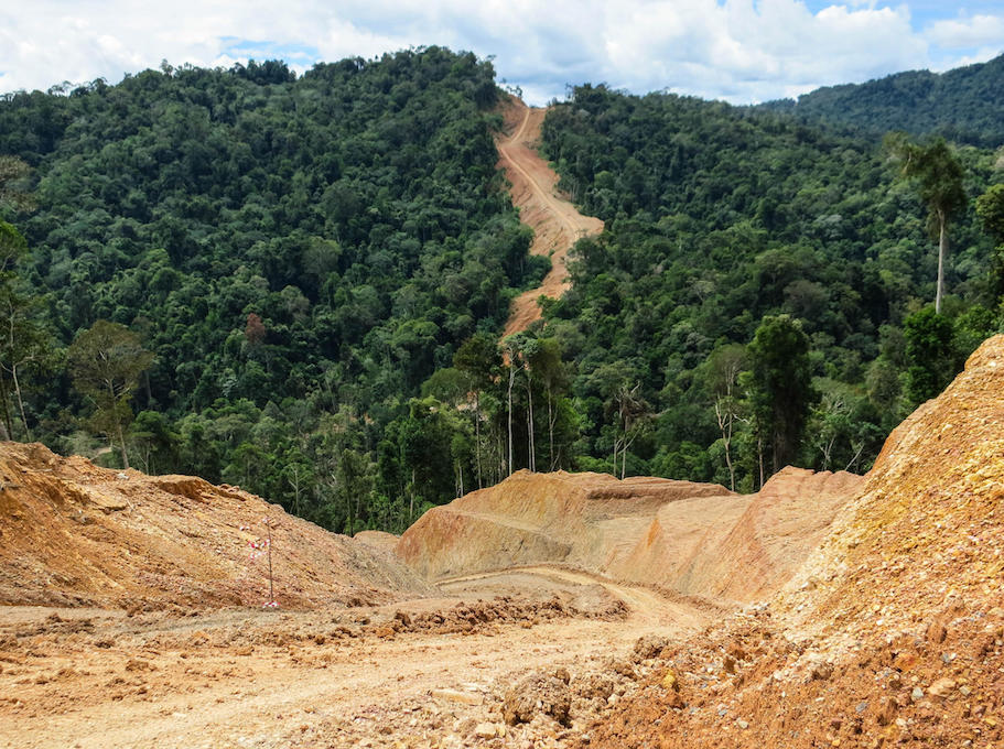 Construction of a new gas pipeline in the northern part of Sarawak requires major cuts through the rainforest.