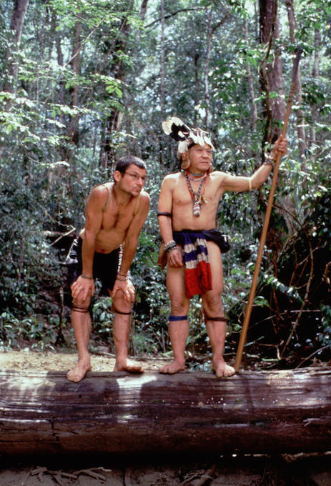 Bruno Manser with Penan leader Along Sega