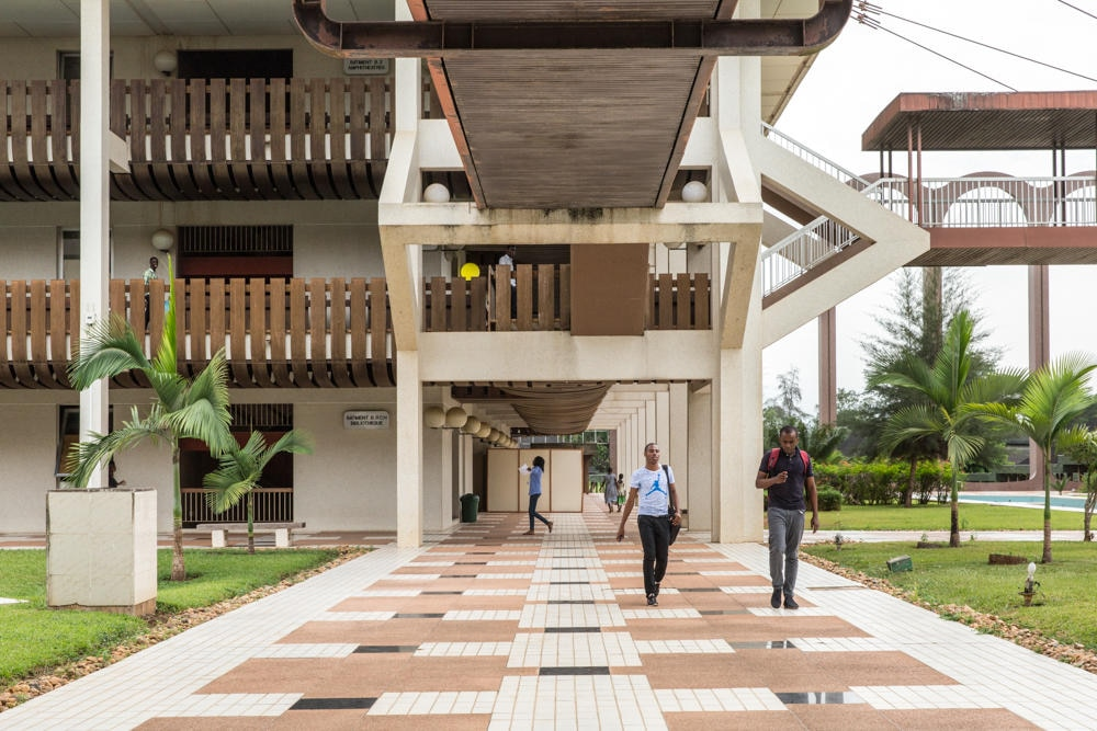 The campus architecture is a matter of national pride.
