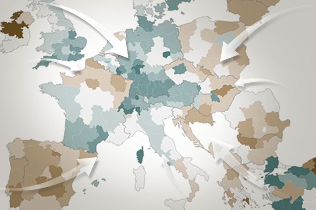 Which European countries attract the most immigrants?