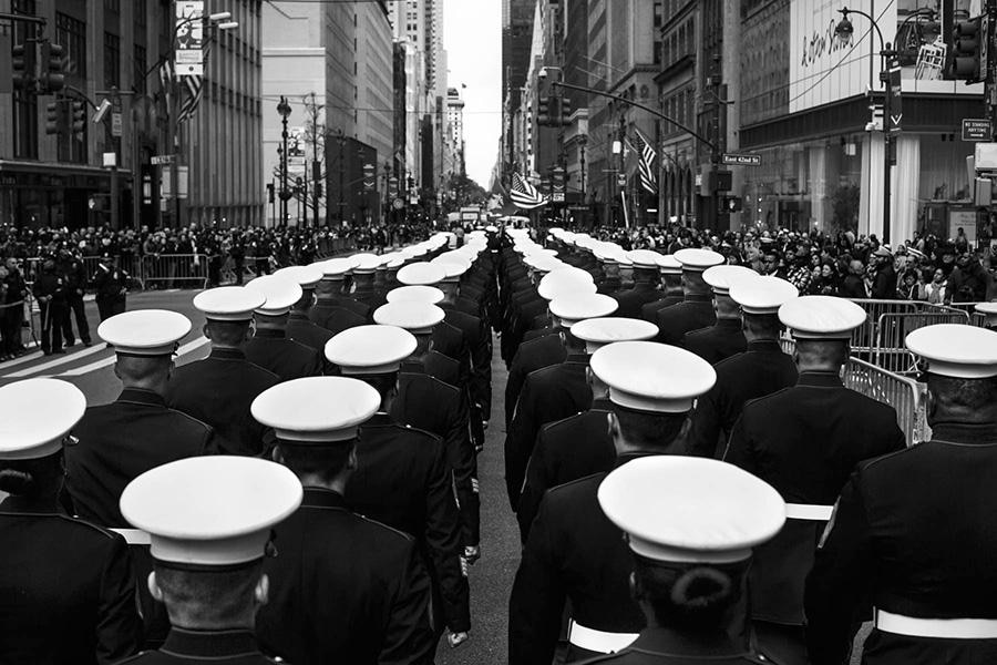 Military parade on Veterans Day, Manhattan, New York, November 2015