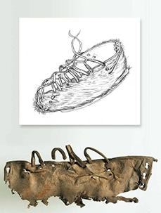 Fragments of a prehistoric shoe found near the Schnidejoch Pass
