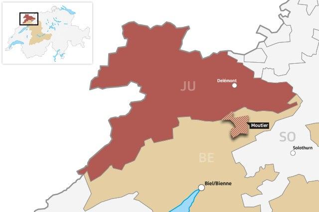 Neu zum Kanton Jura oder beim Kanton Bern bleiben: Darüber entscheidet Moutier am 18. Juni 2017.