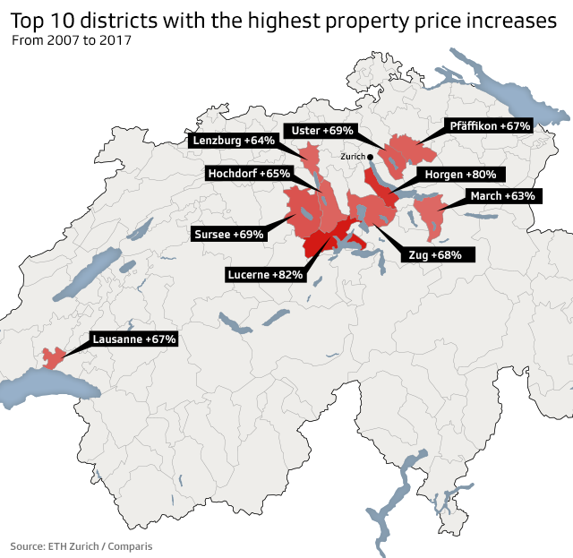 Highest Swiss property prices recorded in Zurich - SWI ... on map of st. moritz switzerland, map of jona switzerland, map of lucerne switzerland, map of brig switzerland, map of locarno switzerland, map of fribourg switzerland, map of davos switzerland, map of zermatt switzerland, map of zug switzerland, map of lake zurich switzerland, map of sion switzerland, map of altdorf switzerland, map of interlaken switzerland, map of nyon switzerland, map of buchs switzerland, map of engelberg switzerland, map of bellinzona switzerland, map of einsiedeln switzerland, map of glarus switzerland, map of langenthal switzerland,
