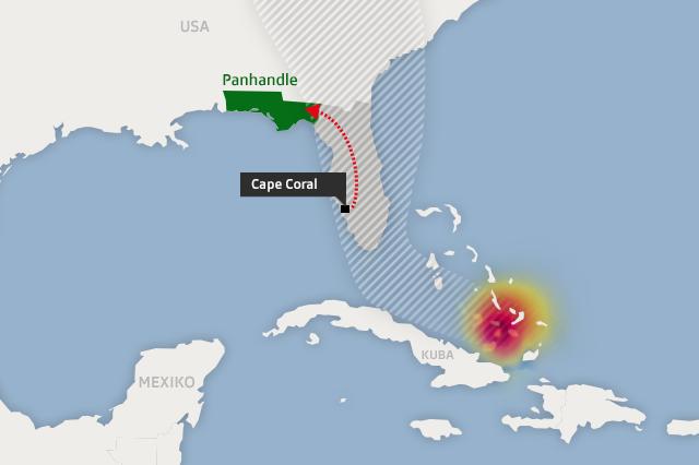 Florida Karte Drucken.Irma Vor Florida Kommen Wir Da Noch Raus Swi Swissinfo Ch