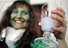 Out in the open at last: absinthe, or the Green Fairy, as it's known in the Val-de-Travers