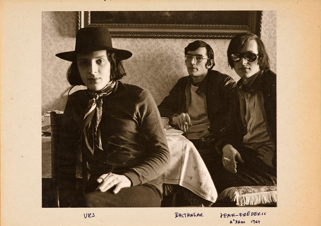 Left to right: Urs Lüthi, Balthasar Burkhard, Jean-Frederic Schnyder, Amsterdam 1969