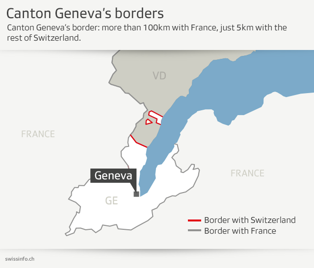 Map Of France Near Geneva.Outcry As Geneva Keeps Banning Crossborder Pupils Swi Swissinfo Ch