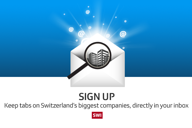 Sign up! Keep tabs on Switzerland's biggest companies, directly in your inbox